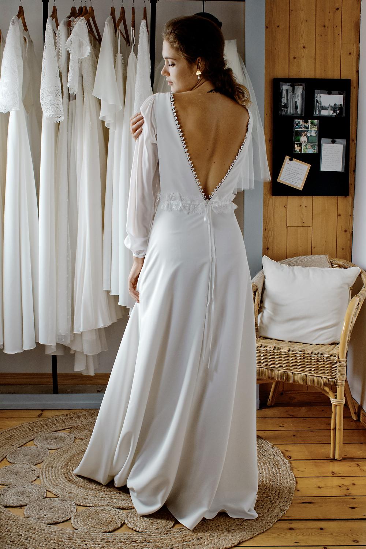 robe de mariée sur mesure atelier Éphéméride