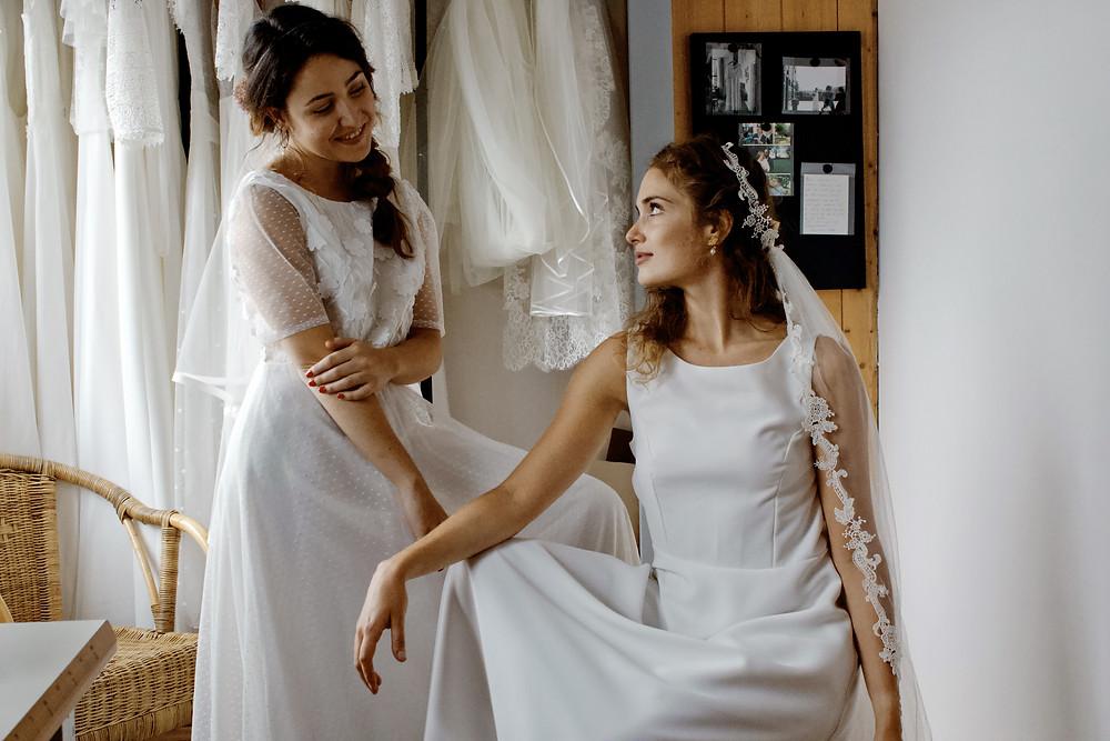 robe de mariée sur mesure atelier Éphéméride lille
