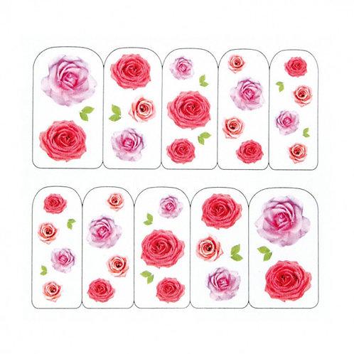 Water Decals, rosas variadas