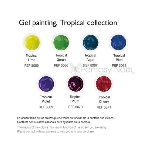 Gel Paintings, Tropical Collection