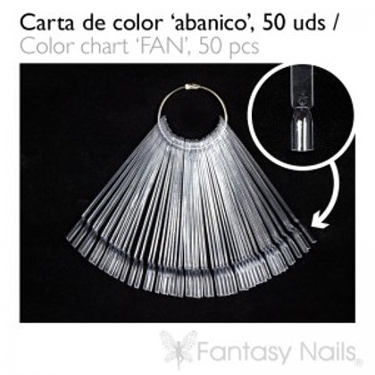 """Nuancier """"Abanico"""" clear 50 pièces (à anneau)"""