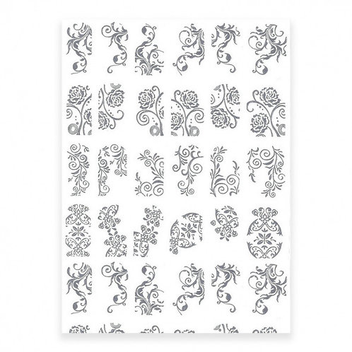 Relief Stickers, Silver