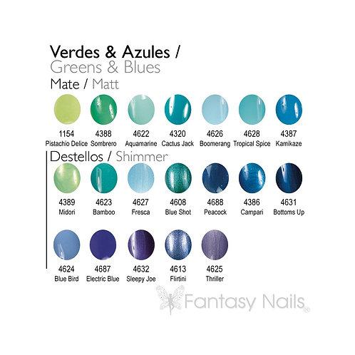 Gel Lacquer Collection Vert et Bleu - 15 ml (UV / LED)