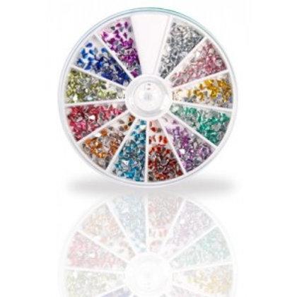 """Assortiment de strass acryliques """"Goutte"""", 600 pcs, 12 couleurs"""