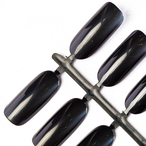 Tips Oval - BLACK (une taille) 140 pcs