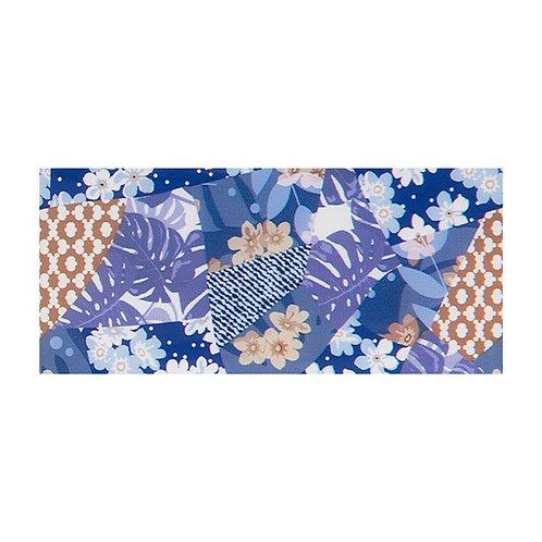 Foil Floral - BLUE TROPIC