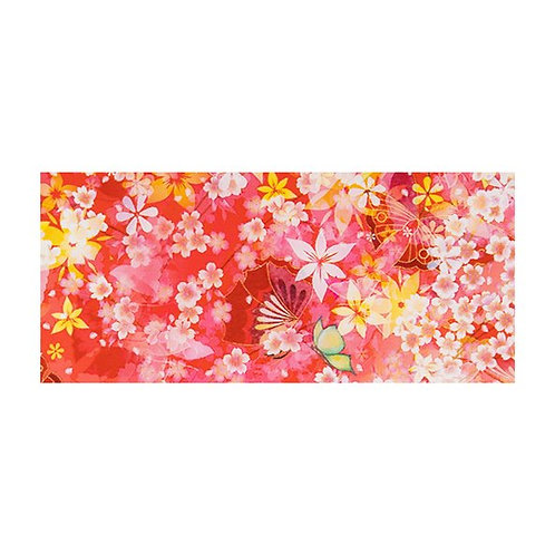 Foil Floral - RED BUTTERFLY