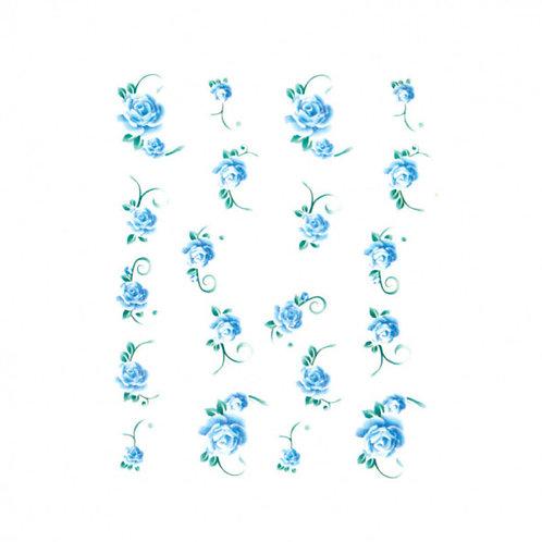 Water Decals, Rose bleue