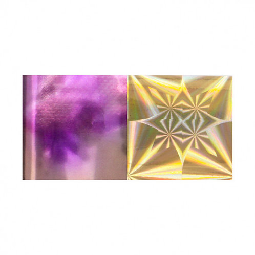 Foil DUO Purple-Pink Marble / Gold Star