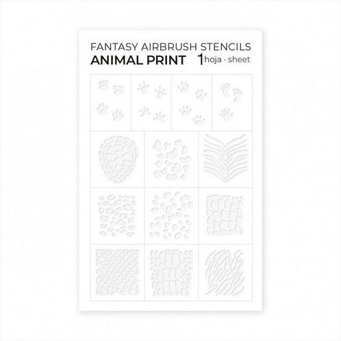 Airbrush Stencils Animal print