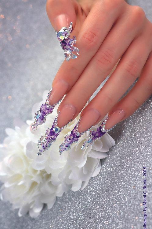 Blue Fantasy Nails - 70 cm x 200 cm