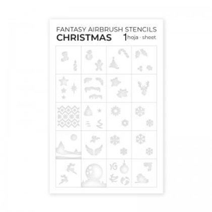 Airbrush Stencils Christmas