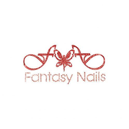 Transfert Grand Logo rouge Fantasy Nails