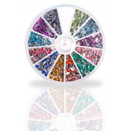 """Assortiment de strass acryliques """"Feuille"""", 600 pcs, 12 couleurs"""