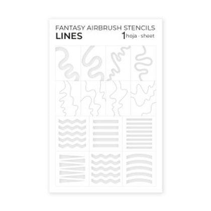 Airbrush Stencils Lines