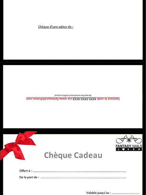 Chèque cadeau personnalisé à imprimer
