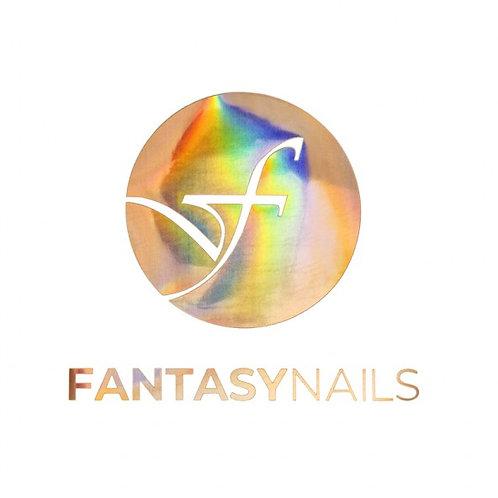 Transfert Logo Fantasy Nails - Rond Rose-Gold