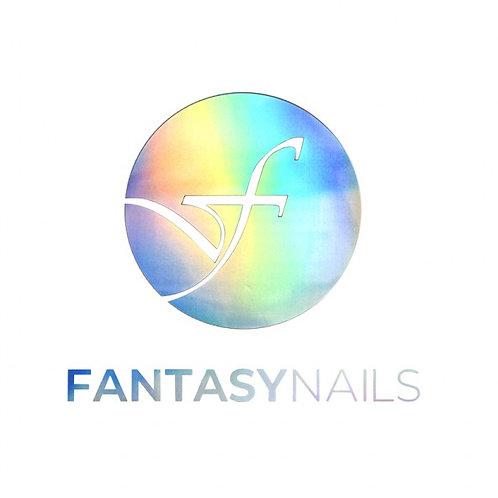 Transfert Logo Fantasy Nails - Rond Silver