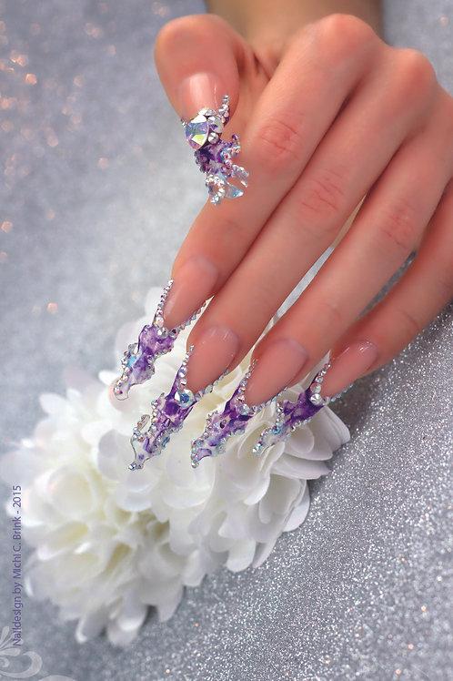 Blue Fantasy Nails