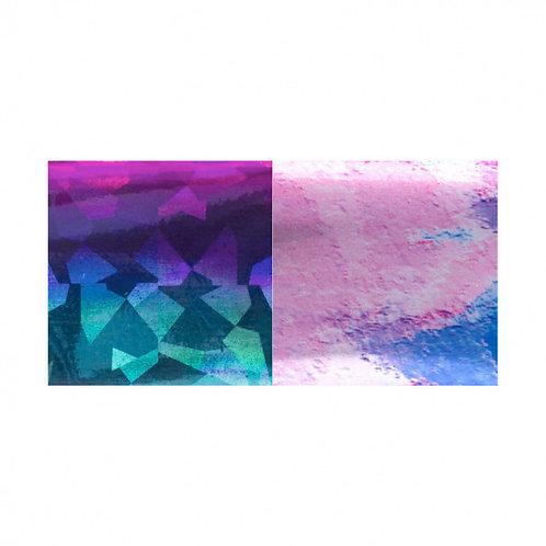 Foil DUO Pink-Blue Diamond / Blue-Lila Marble