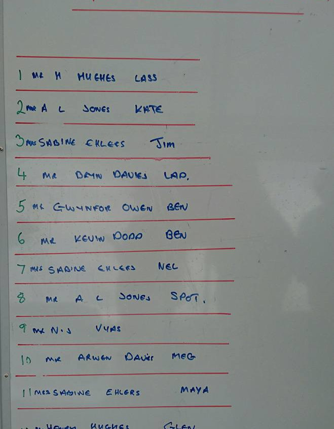 Running order in the final