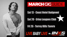 The gigs are picking up live-music lovers!!!