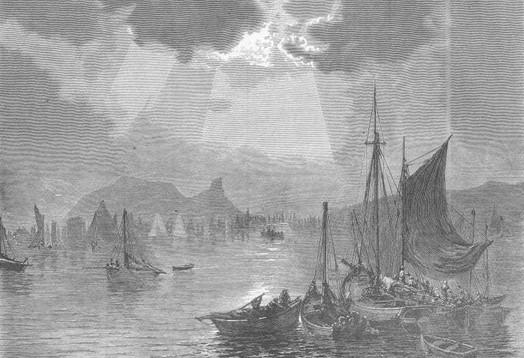 23. Herring Fleet leaving Tarbert, 1871