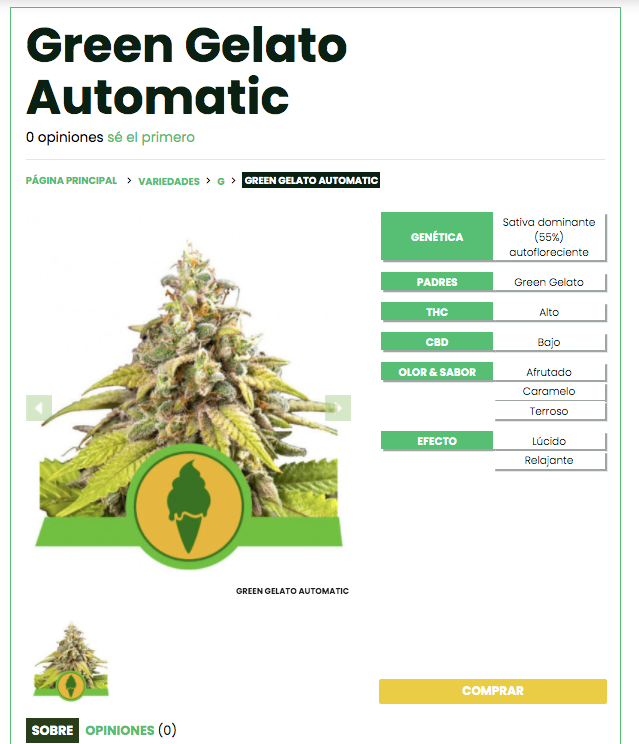 cannabis strains green gelato
