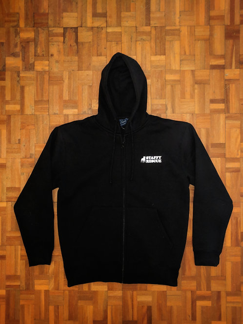 Staffy Rescue Hoodie - Large BLACK
