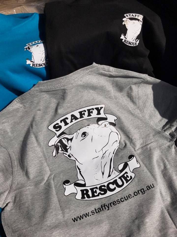 Staffy Rescue T shirt