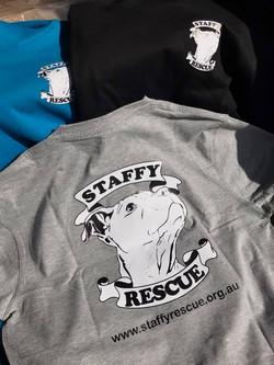 Staffy Rescue T shirt
