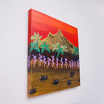 Mt. Arunachala painting