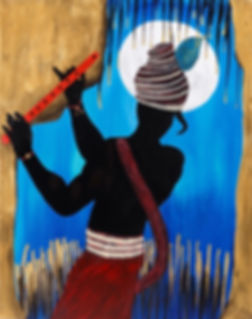 Krishna dancing painting
