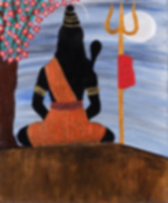 Shiva in meditation painting