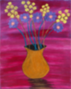 flowers in a vase painting