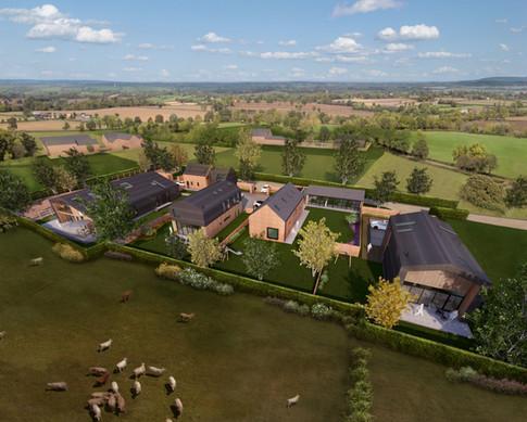 Manor Farm Barns - Conversion Of 5 Barns