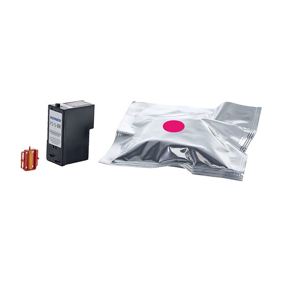 Reiner P3-S-MG Magenta, Water Based Ink Cartridge for Porous Surfaces