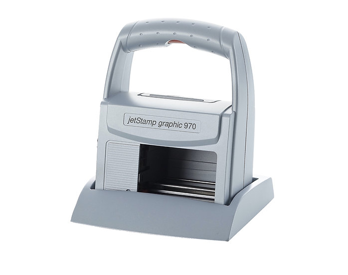 jetStamp® graphic 970 Мобилен, маркиращ принтер за дати, партиди и баркод.