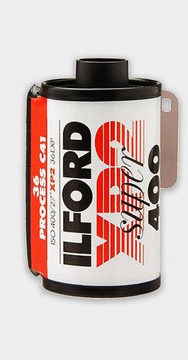 Ilford XP2 400 sort/hvid C41