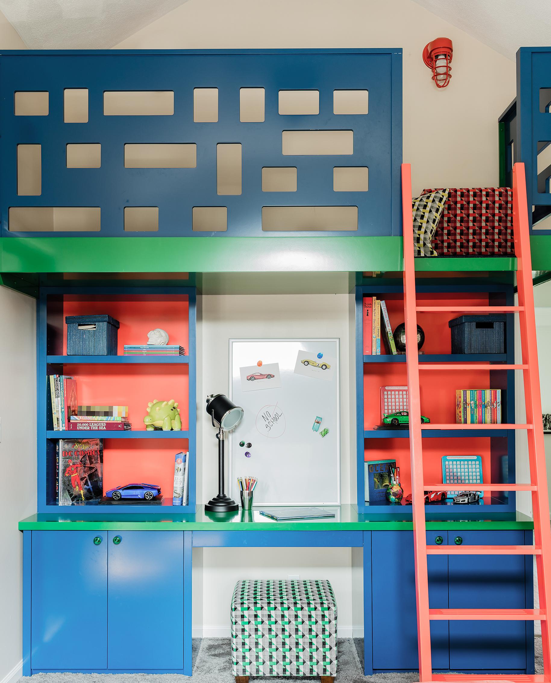 Boy's Bedroom Built-in Loft