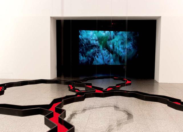 Vista de Dar corpo ao Vazio  Exposição individual  (NOV. 2020 - ABR. 2021)  Curador Sergio Fazenda Rodrigues  Museu Coleção Berardo, Lisboa  © Silvio Santana, 2020