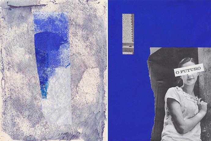 """Chrischa Oswald: 2º Díptico da série """"Blue, Elements I series"""", 2019"""
