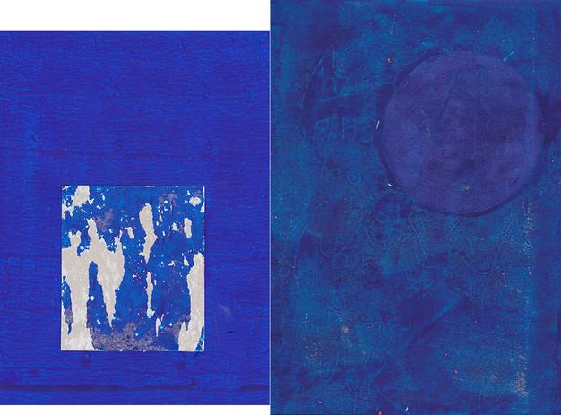 """Chrischa Oswald: 4º Díptico da série """"Blue, Elements I series"""", 2019"""