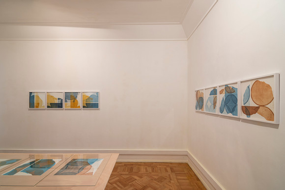"View of the exhibition ""in a row I + II"" by Pedro Boese, 2020 © Eduardo Sousa Ribeiro, 2020"