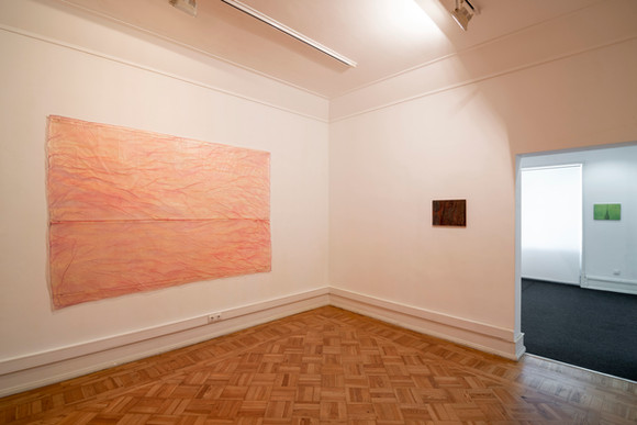 """View of the exhibition """"autoritratto"""" by Renzo Marasca, 2020-2021."""