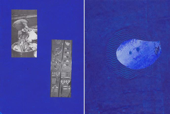 """Chrischa Oswald: 3º Díptico da série """"Blue, Elements I series"""", 2019"""