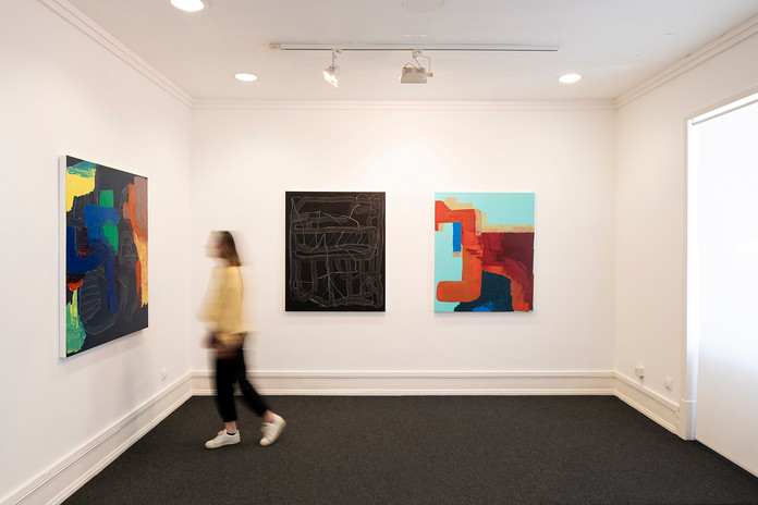 """Vista exposição individual  """"Debaixo de cada cor"""", na Galeria Belo-Galsterer, Lisboa (Mai - Set 2021)"""