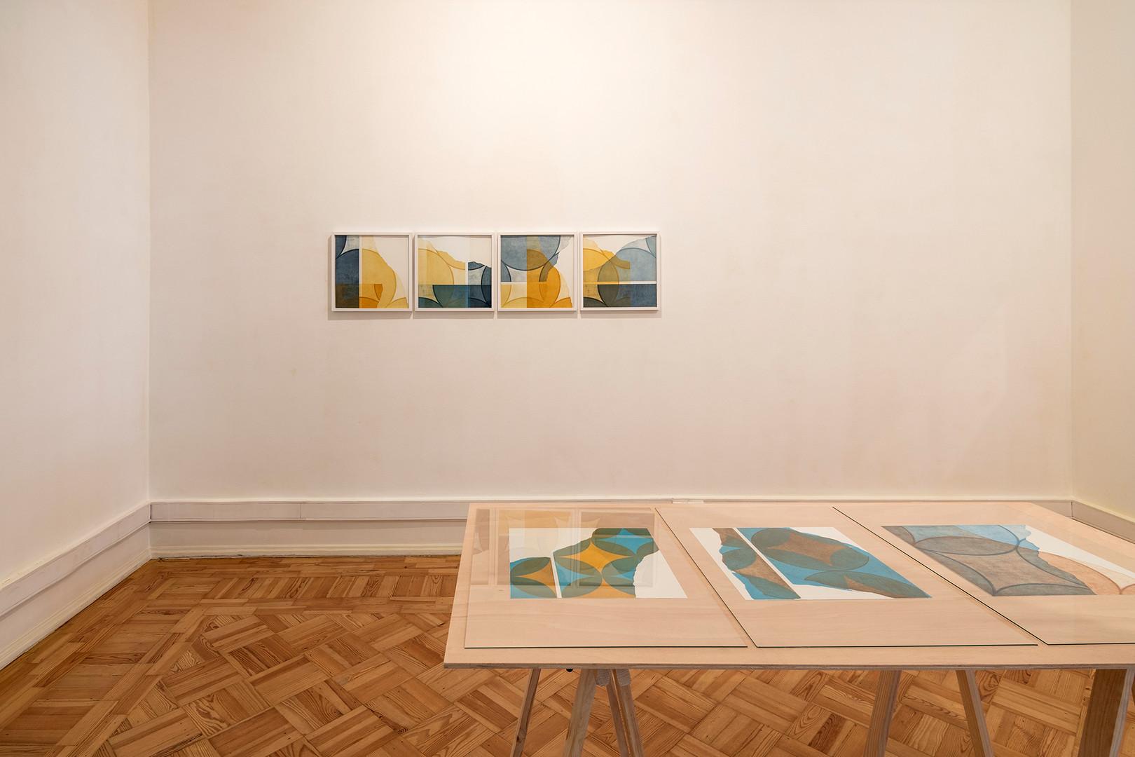 """Vista da exposição """"in a row I+II"""" de Pedro Boese, 2020  © Eduardo Sousa Ribeiro, 2020"""