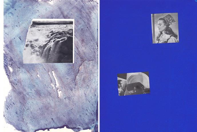"""Chrischa Oswald: 5º Díptico da série """"Blue, Elements I series"""", 2019"""