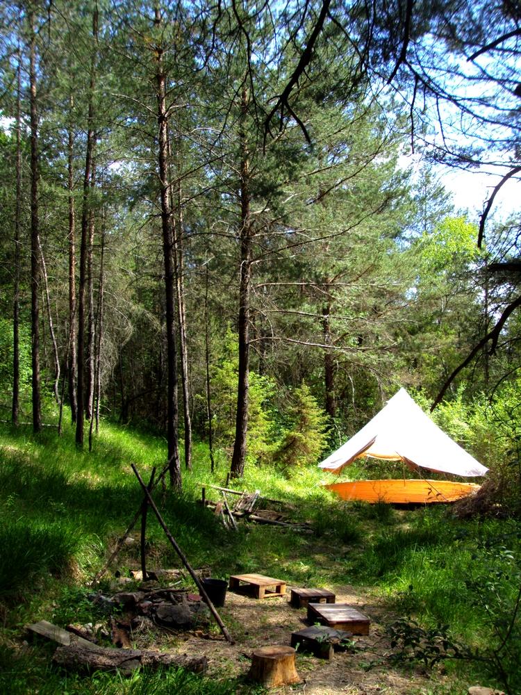 Campement bushcraft